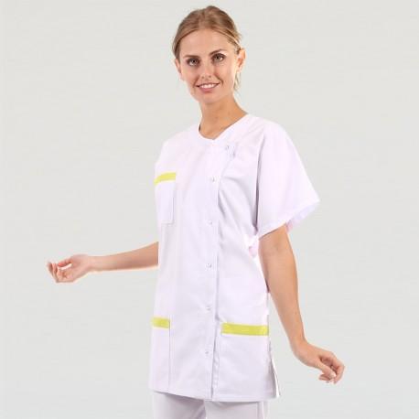 Blouse Medicale Asymétrique poches - MANELLI - Vert Anis