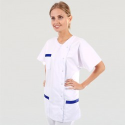 Blouse Medicale Asymétrique poches - MANELLI - Bleu Marine