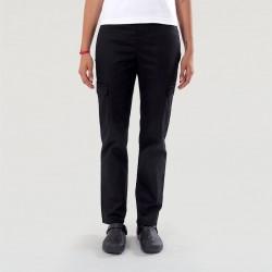 Pantalon de Cuisine Femme noir - Manelli - Poches Latérales