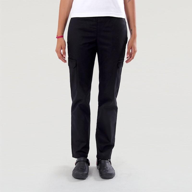 Pantalon de Pâtissière Femme noir - Manelli - Poches Latérales