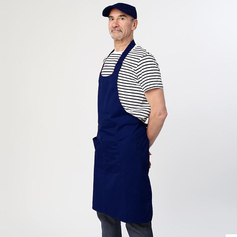 Tablier à bavette Bleu Marine - MANELLI