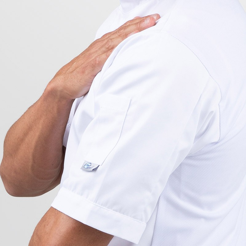 Veste de cuisine blanche dos aéré - MANELLI poche à stylo