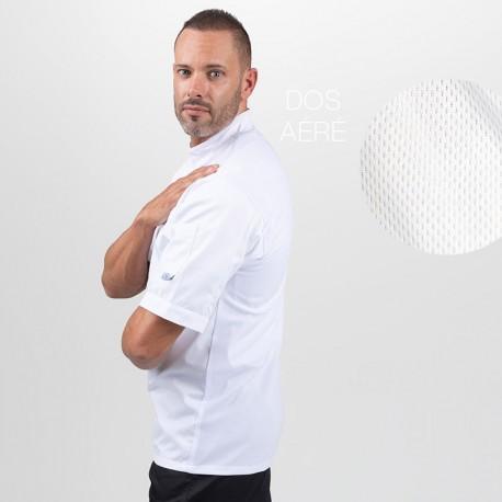 Veste de cuisine blanche dos aéré - MANELLI adapté à toutes les morphologies