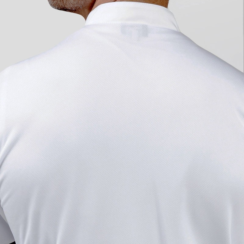 Veste de cuisine blanche dos aéré, parfait pour l'été