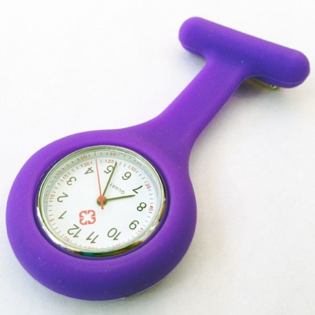 Montre infirmière violette