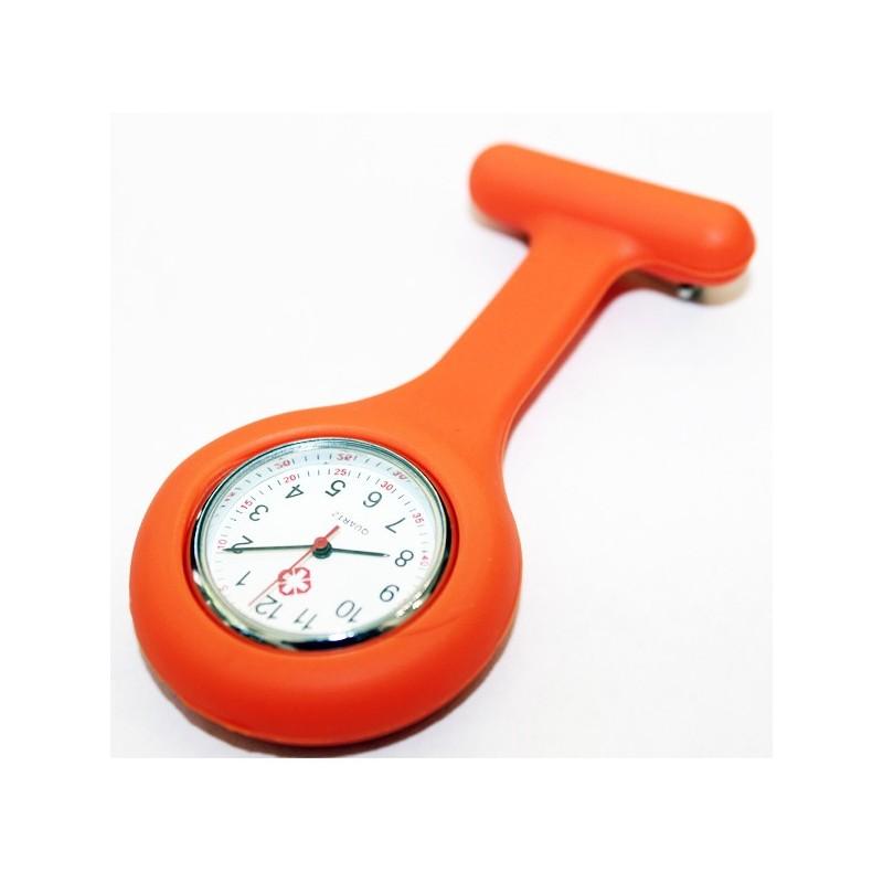 Montre infirmière orange