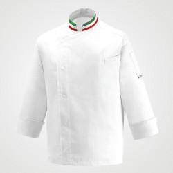 Veste de cuisine blanche col italien - Manelli