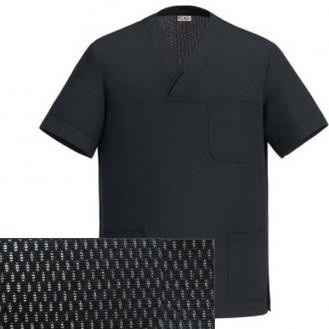 Tunica sanitaria nera con ampio scollo a V