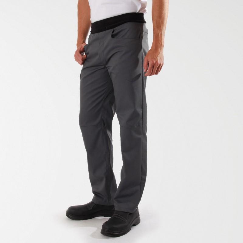 Pantalon de pâtissier Confort Gris Mixte - MANELLI