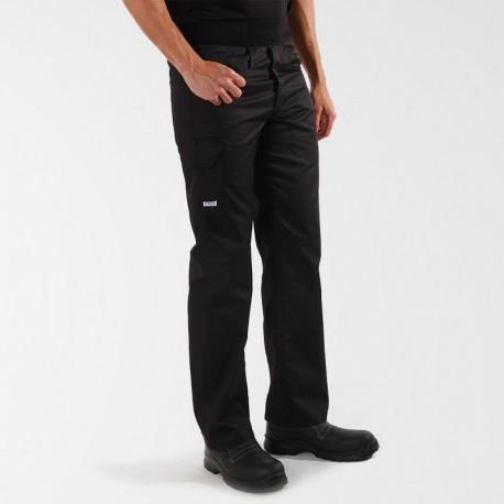 Pantalon de boucher noir confort ceinture  éponge