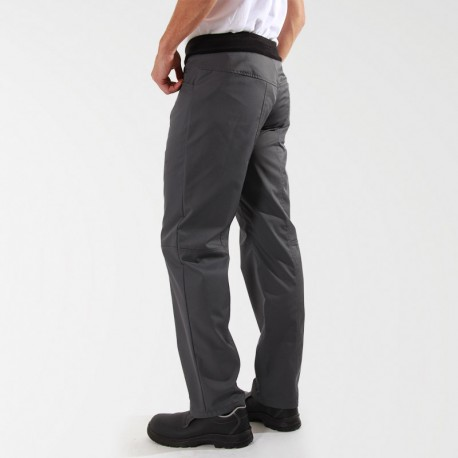 Pantalon de Cuisine Confort Gris Mixte destockage - MANELLI