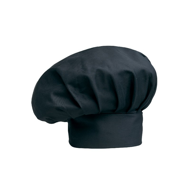 Toque de cuisine noire Manelli