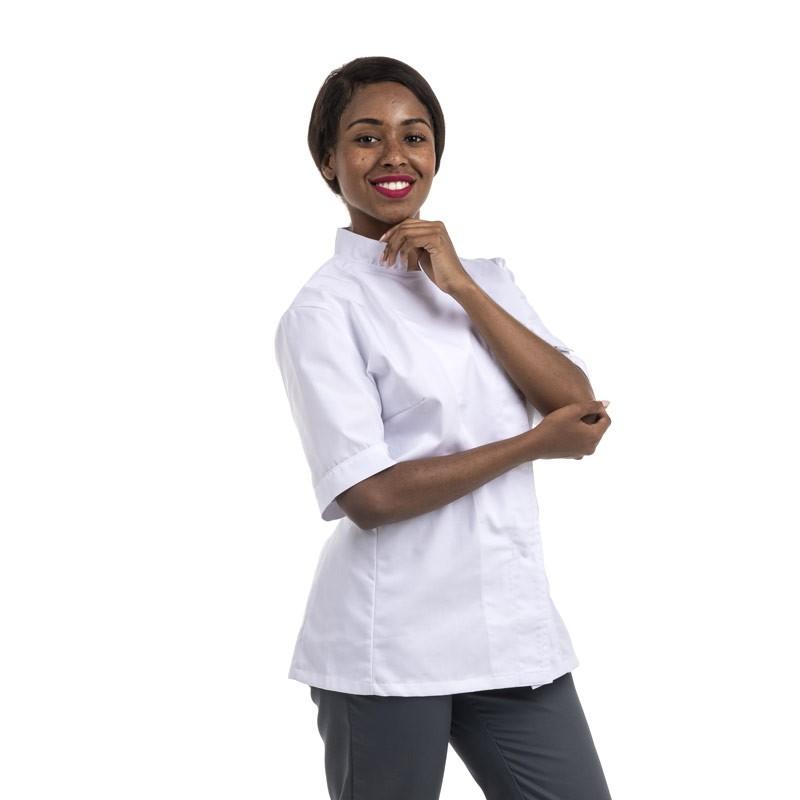 Veste de Cuisine Femme Blanche MC ou ML - MANELLI