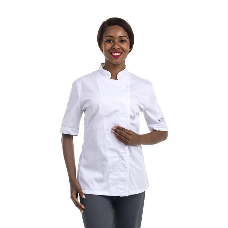 Veste De Cuisine Femme Blanche Manches Courtes Ou Manches Longues