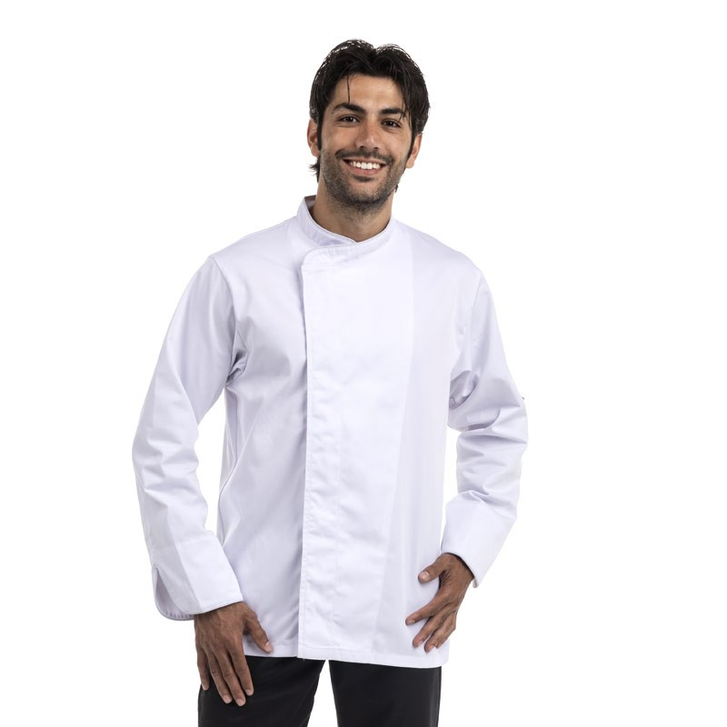 Veste de boulanger Blanche Respirante liseré noir ou gris - MANELLI