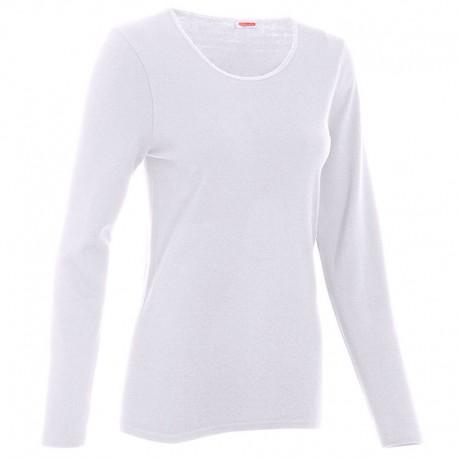 Tee-shirt de Travail Thermolactyl Manches Longues Femme Blanc DAMART