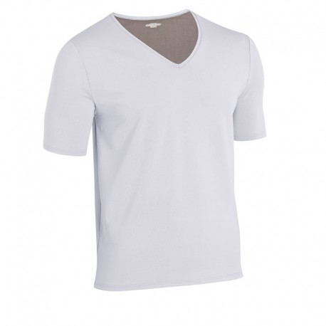 Tee-shirt de Travail Thermolactyl Manches Courtes Homme Gris Perlé DAMART