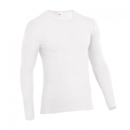 Tee-shirt de Travail Thermolactyl Col Rond Homme Blanc DAMART