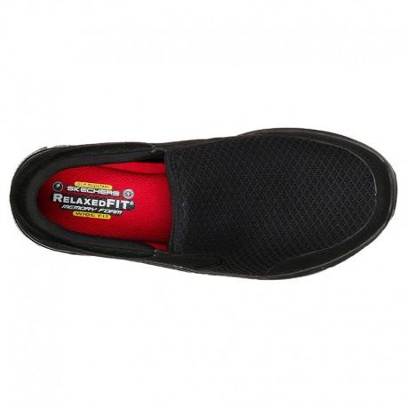 Skechers chaussure de cuisine femme noir vue dessus
