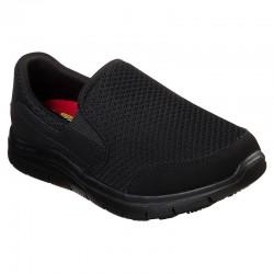 Skechers chaussures de sécurité femme noir face