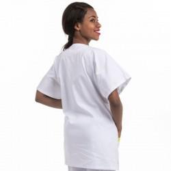 Blouse Médicale Asymétrique poches Prune - MANELLI