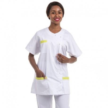 blouse médicale asymétrique ayant des poches prunes et d'autres couleurs - MANELLI