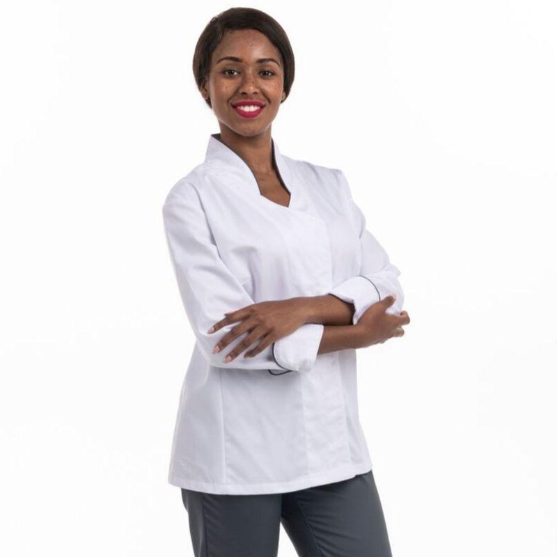 Veste de cuisine blanche by Coline Faulquier - MANELLI