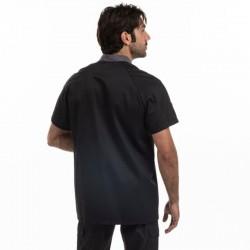 Veste de pâtissier noire duo de couleur - MANELLI