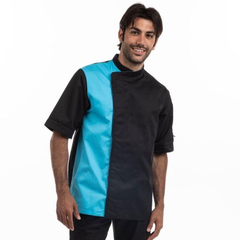 Veste de pâtissier noir / bleu - MANELLI