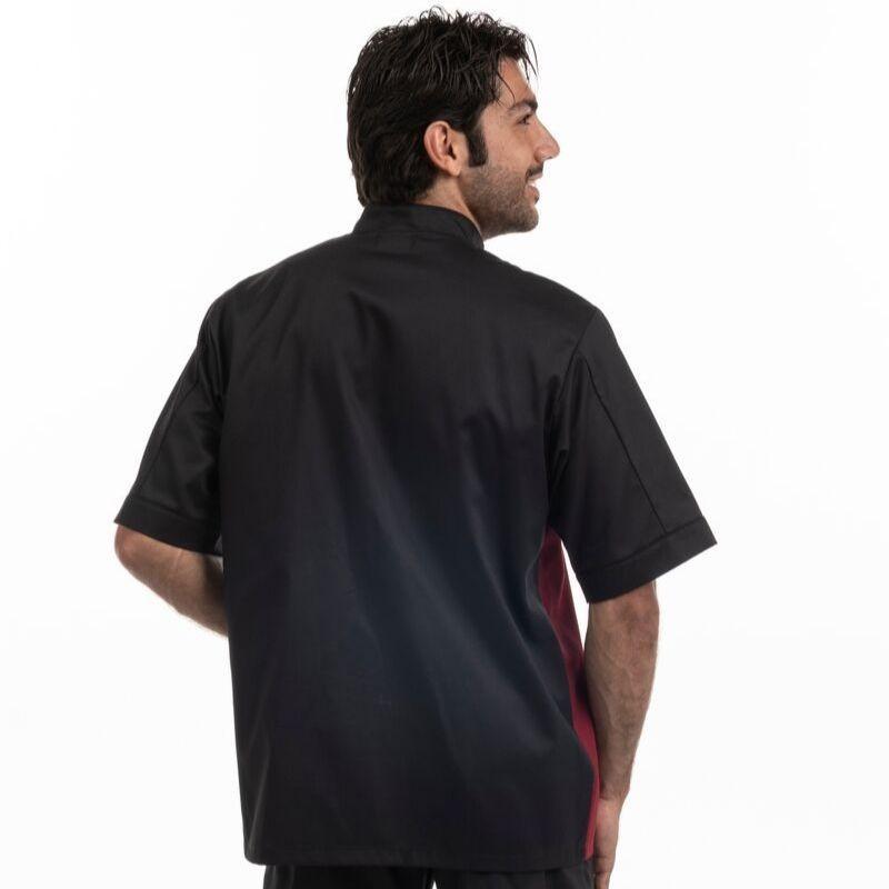 Veste de boucher noir / bordeaux - MANELLI