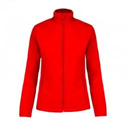 Veste de Travail Micropolaire Zippée Femme Rouge TOPTEX professionnels