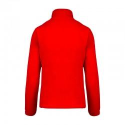 Veste micropolaire rouge femme K907 dos