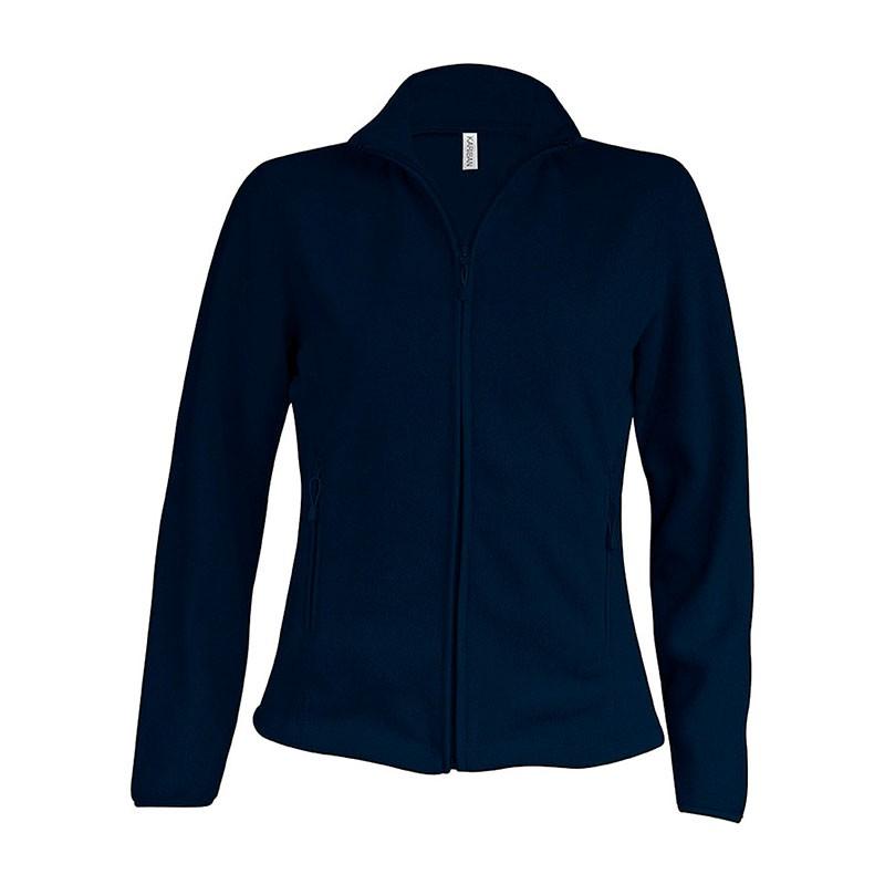 Veste de Travail Micropolaire Zippée Femme Bleu Marine TOPTEX