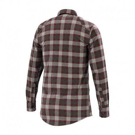 Chemise de travail rouge et marron Lafont détail dos