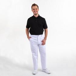 Pantalon de boulanger Blanc 1 pli