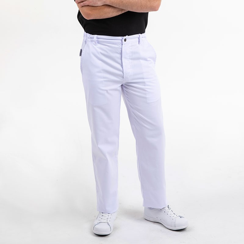 Pantalon de boulanger Manelli blanc