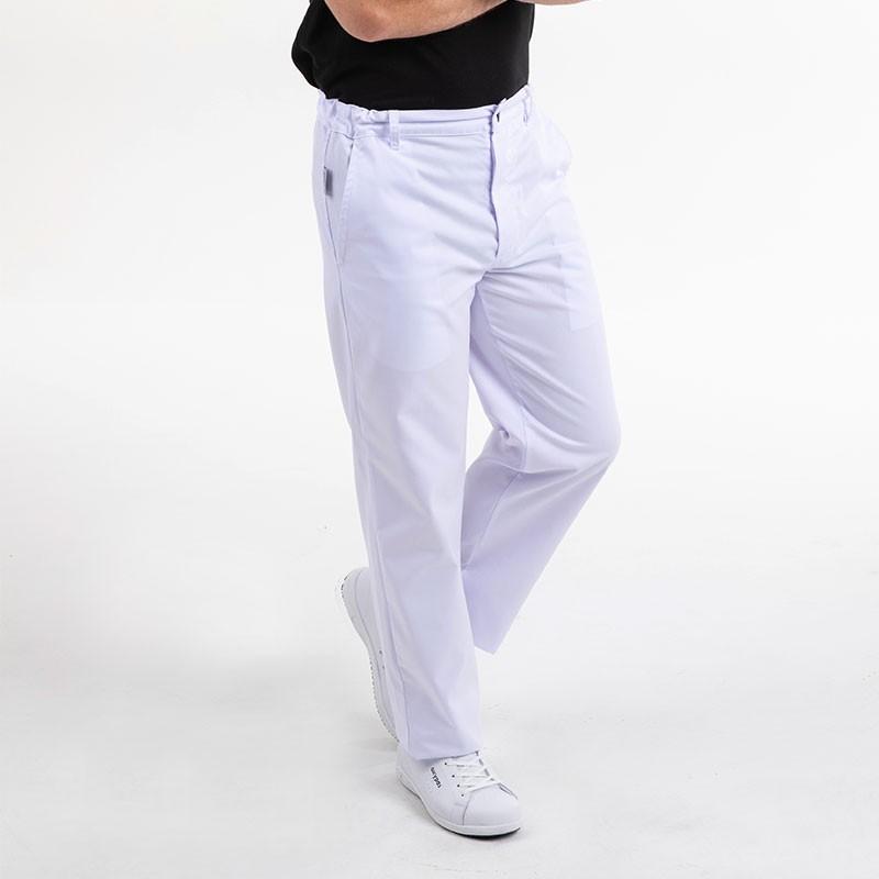 Pantalon de boulanger Manelli blanc côté