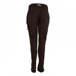 Pantalon de travail femme de couleur noir vue de dos