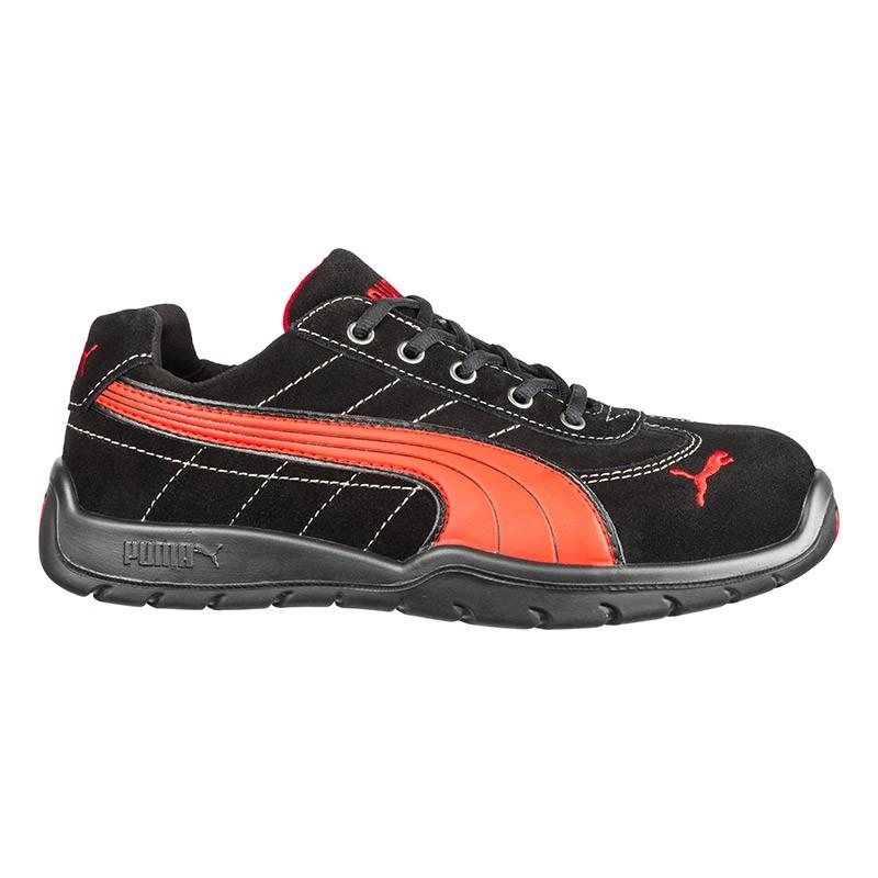 Basket de Sécurité Puma mixte - Silverstone Low - S1P rouge et noire, design et sobriété