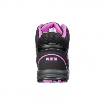 Baskets de sécurité montantes femme Puma Stepper rose S3