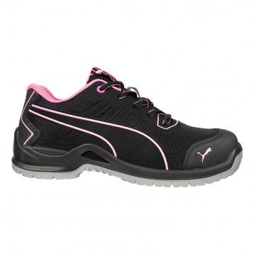 Chaussure de sécurité femme rose et noire