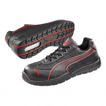 Chaussure de sécurité femme noire et rouge Puma