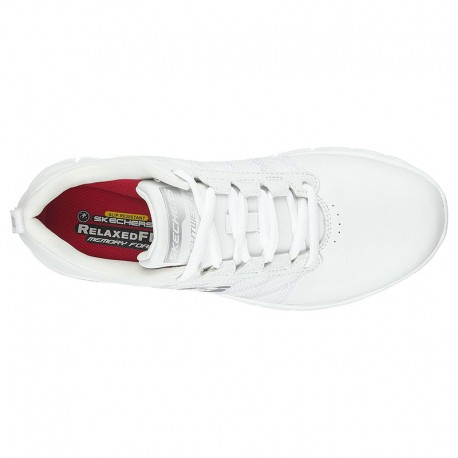 Basket de Travail Blanc Femme Sure Track Erath SR SKECHERS restauration