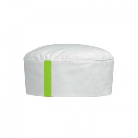 Calot Blanc à Liseré Vert DESTOCKAGE MANELLI