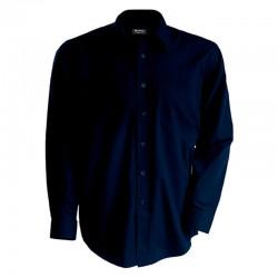 Chemise Serveur Bleu Marine bouton bleu TOPTEX