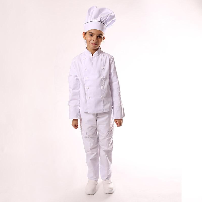 Pantalon de cuisine blanc enfant - Manelli