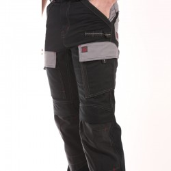 Pantalon Multipoches Protection Genoux Noir pas chèr