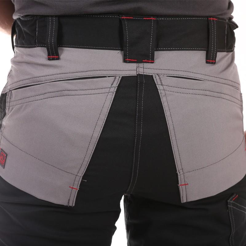 Pantalon Multipoches Protection Genoux Noir hommes