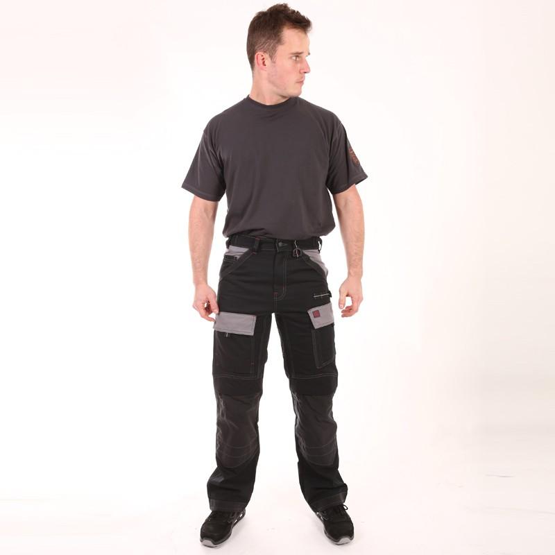 Pantalon Multipoches Protection Genoux Noir hommes pas cher