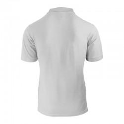 Polo de couleur gris chiné pour homme vu de dos à petit prix